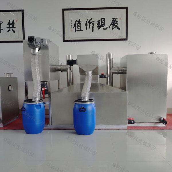 饭堂3.1米*1.2米*1.85米隔油隔渣隔悬浮物隔油池隔油器示意图
