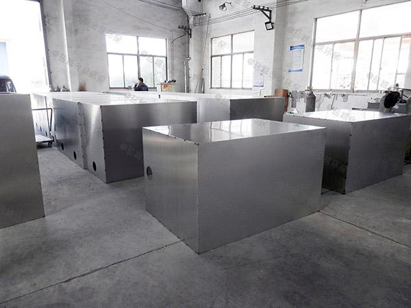餐饮商户3.1米*1.2米*1.85米混凝土隔油一体化提升设备检验
