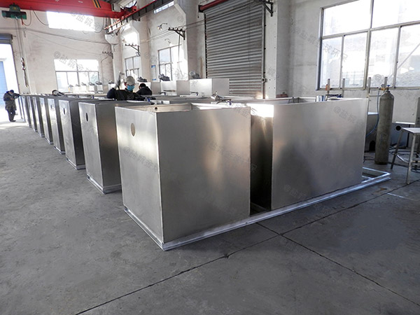 餐饮业100人混凝土隔油净化设备简图