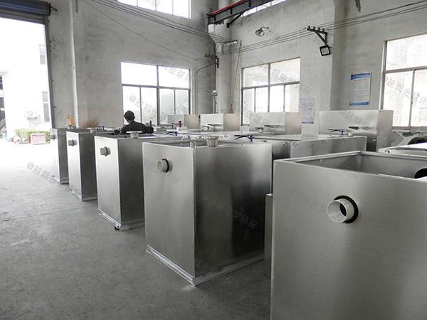 饭堂3.5米*1.35米*1.85米隔渣废水隔油器生产商