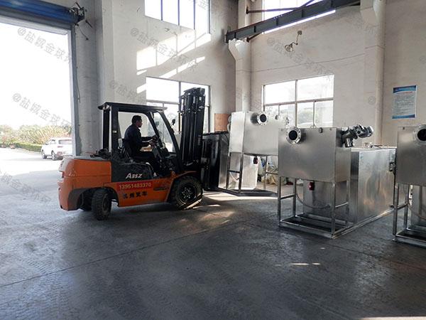 餐饮环保8吨的长宽高不锈钢隔油过滤器适用行业