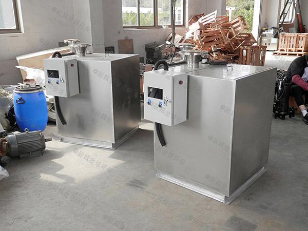 餐饮专用3.1米*1.2米*1.85米用砖做隔油提升一体化装置简图
