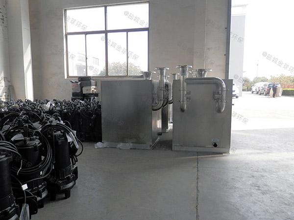 餐饮业2.8米*1.2米*1.75米隔油隔渣隔悬浮物隔油提污设备内部结构