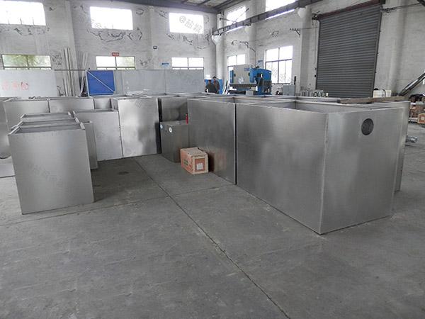 后厨30立方不锈钢隔油池自动刮油检测报告