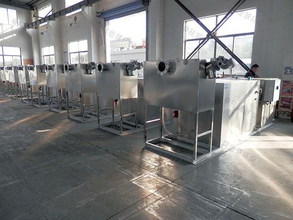 工厂食堂8吨的长宽高隔油隔渣隔悬浮物隔油一体设备排行
