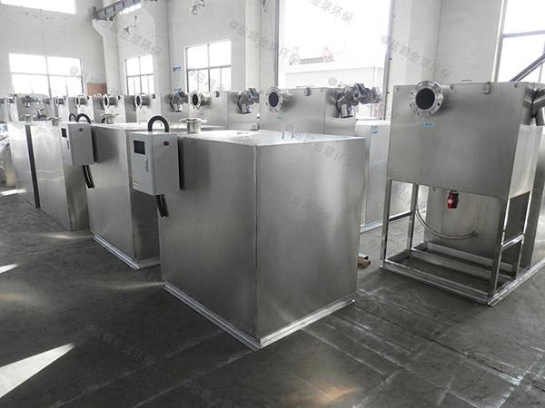 厨用中小型隔悬浮物隔油强排一体化设备使用寿命