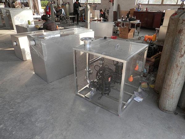 后厨100人隔悬浮物隔油除渣一体化设备设计方案