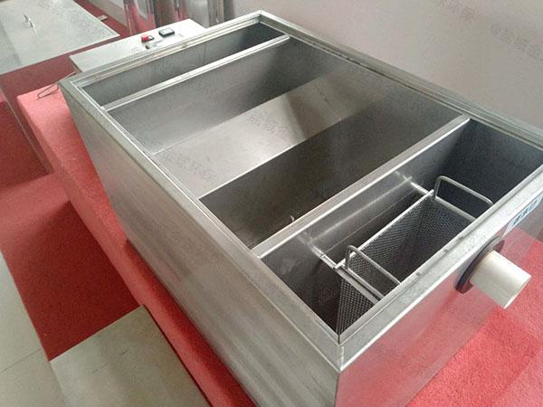 饭馆3.1米*1.2米*1.85米不锈钢隔油过滤器市场