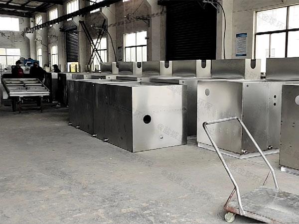 单位食堂3.5米*1.35米*1.85米隔油隔渣隔悬浮物隔油提升一体机品牌