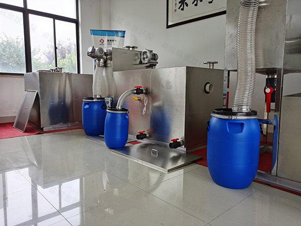 餐饮业甲型隔油隔油处理设备调试方案