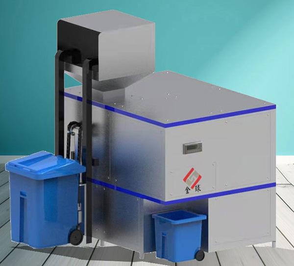 大小型机械式餐饮一体化垃圾处理设备工作原理图