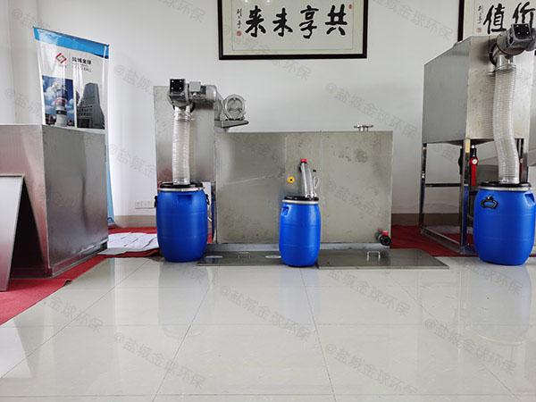 单位食堂30立方隔渣隔油提升一体设备检验