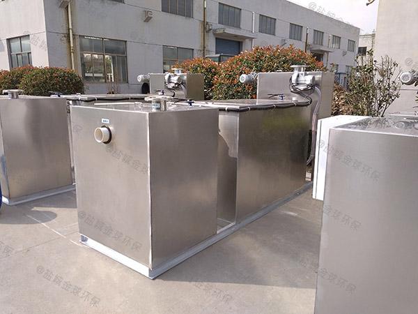 餐饮环保3.1米*1.2米*1.85米隔渣隔油成套设备设计标准